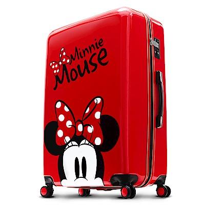 Disney 米奇奇幻之旅 24吋PC鏡面拉鍊箱-紅色