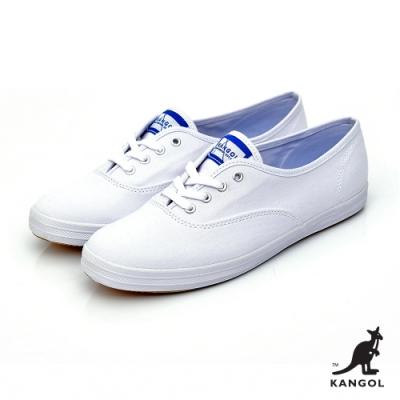 【KANGOL】經典潮流帆布鞋-女-白