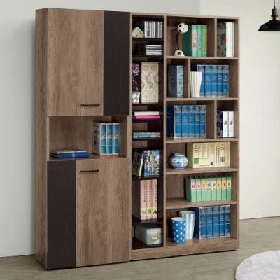 MUNA 奧蘿拉雙色5尺組合書櫃(全組) 150X32X182cm