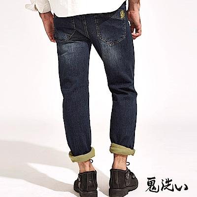 鬼洗 BLUE WAYEASY中腰彈性直筒褲