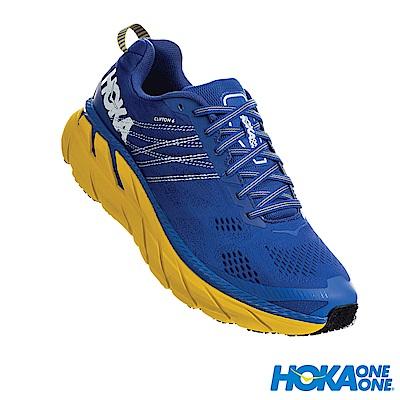 HOKA ONE ONE 男 Clifton 6 寬楦 路跑鞋 星雲藍檸檬