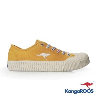 KangaROOS 美國袋鼠鞋 女 CRUST 甜點餅乾鞋/帆布鞋/休閒鞋(芥末黃-KW11634)