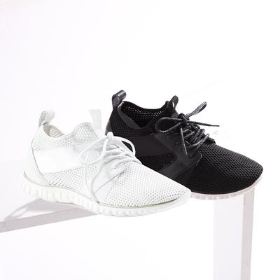 HANNFORT  ZERO GRAVITY 編織透氣輕運動休閒鞋 女 黑
