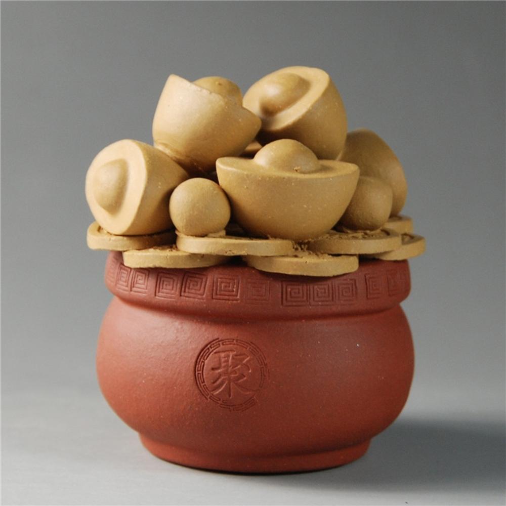 【古緣居】 紫砂招財聚寶盆茶寵 (兩色任選)