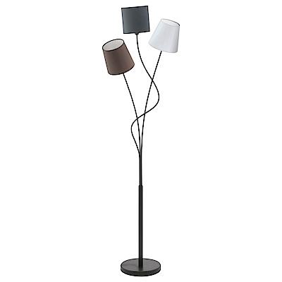 EGLO歐風燈飾 漾彩三色布質燈罩立燈/落地燈(不含燈泡)