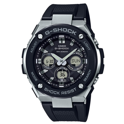 G-SHOCK創新突破分層防護完美悍將休閒錶(GST-S300-1A)黑52.4mm