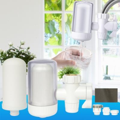 雙出水陶瓷濾芯濾水器一個+替換濾芯一個