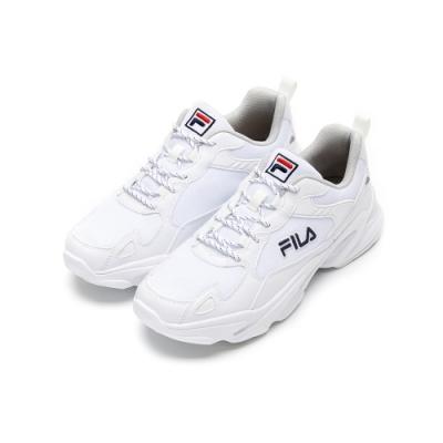 FILA MONSTER 男性慢跑鞋-白 1-J907U-113