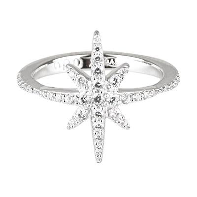 apm MONACO METEORITES系列晶鑽鑲飾閃耀繁星鑲鋯純銀指骨戒(銀)