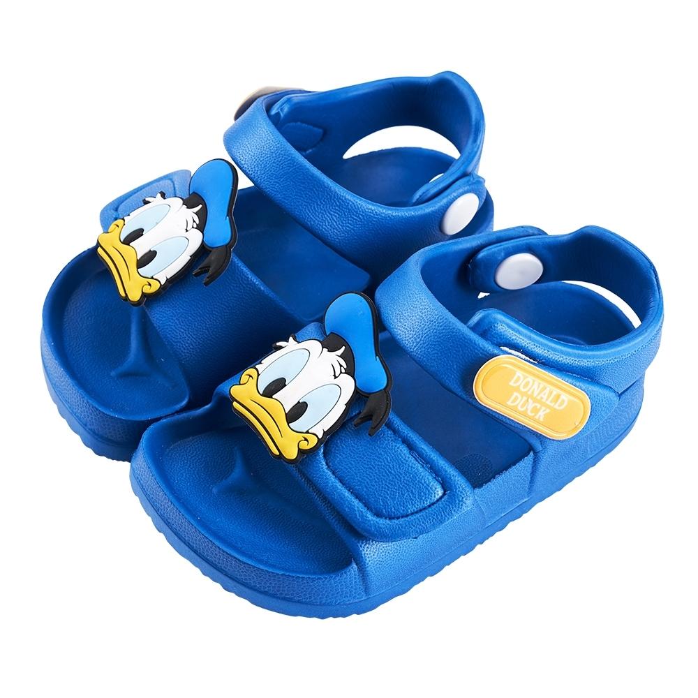 迪士尼童鞋 唐老鴨 立體造型防水涼鞋-藍(柏睿鞋業)