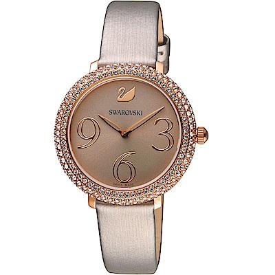 SWAROVSKI施華洛世奇 CRYSTAL FROST 璀璨時尚錶(5484067)-灰