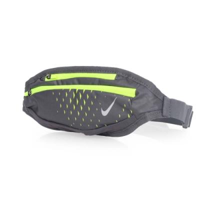 NIKE 運動腰包小 深灰螢光綠