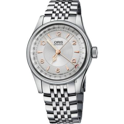 Oris 豪利時 Big Crown Original 指針式日期機械錶-銀/40mm