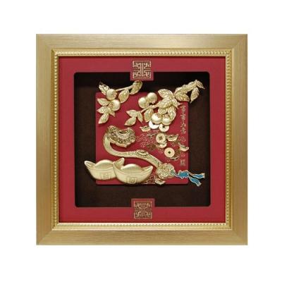 My Gifts 立體金箔畫-事事如意(祥和系列23.8x23.8cm)