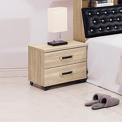 AS-艾蜜莉橡木1.6尺床頭櫃-48x40x45cm