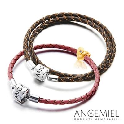 Angemiel安婕米 925純銀真皮手環(請備註款式尺寸/顏色随機)