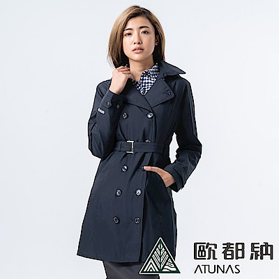 【ATUNAS 歐都納】女GORE-TEX單件式長版大衣外套A1-G1823W黑
