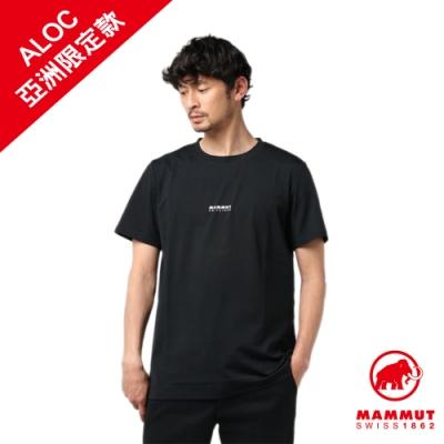 【Mammut】QD Logo Print 短袖上衣 黑PRT1 男款 #1017-02010