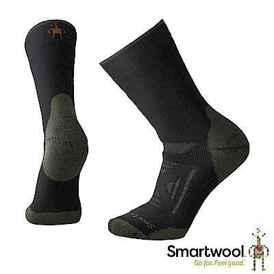 SmartWool PhD戶外 重量級減震印花中長襪 黑色