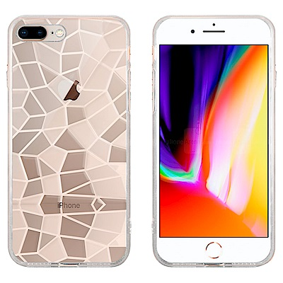 Metal-Slim Apple iPhone 7/8 Plus 3D鑽石透明T...