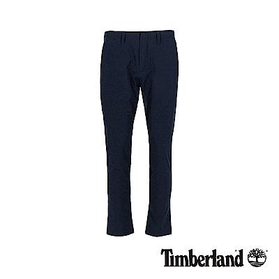 Timberland 男款深藍寶石色彈力梭織毛圈布長褲|A1WC9
