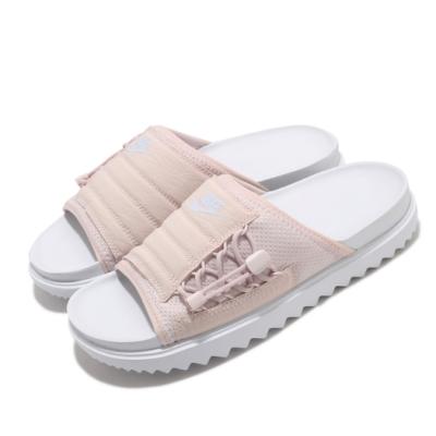 Nike 拖鞋 Asuna Slide 套腳 女鞋  輕便 舒適 簡約 穿搭 夏日 粉 白 CI8799101