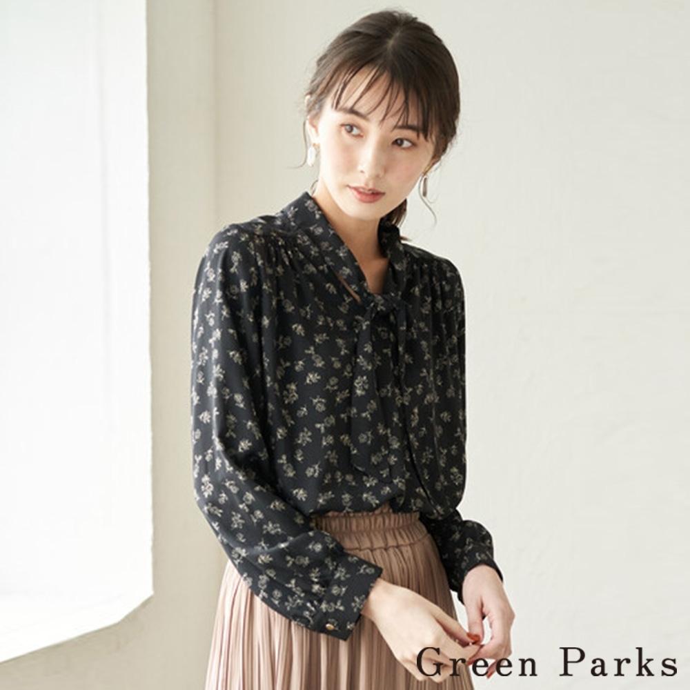 Green Parks 2way浪漫花朵前綁帶襯衫上衣