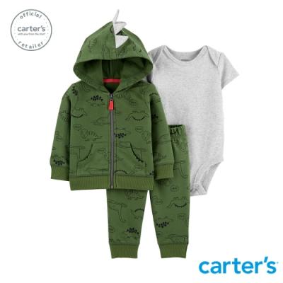 carter's台灣總代理 恐龍樂園造型外套3件組