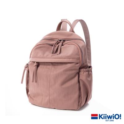 Kiiwi O! 微光澤防潑防刮輕量尼龍後背包 BROOK 粉