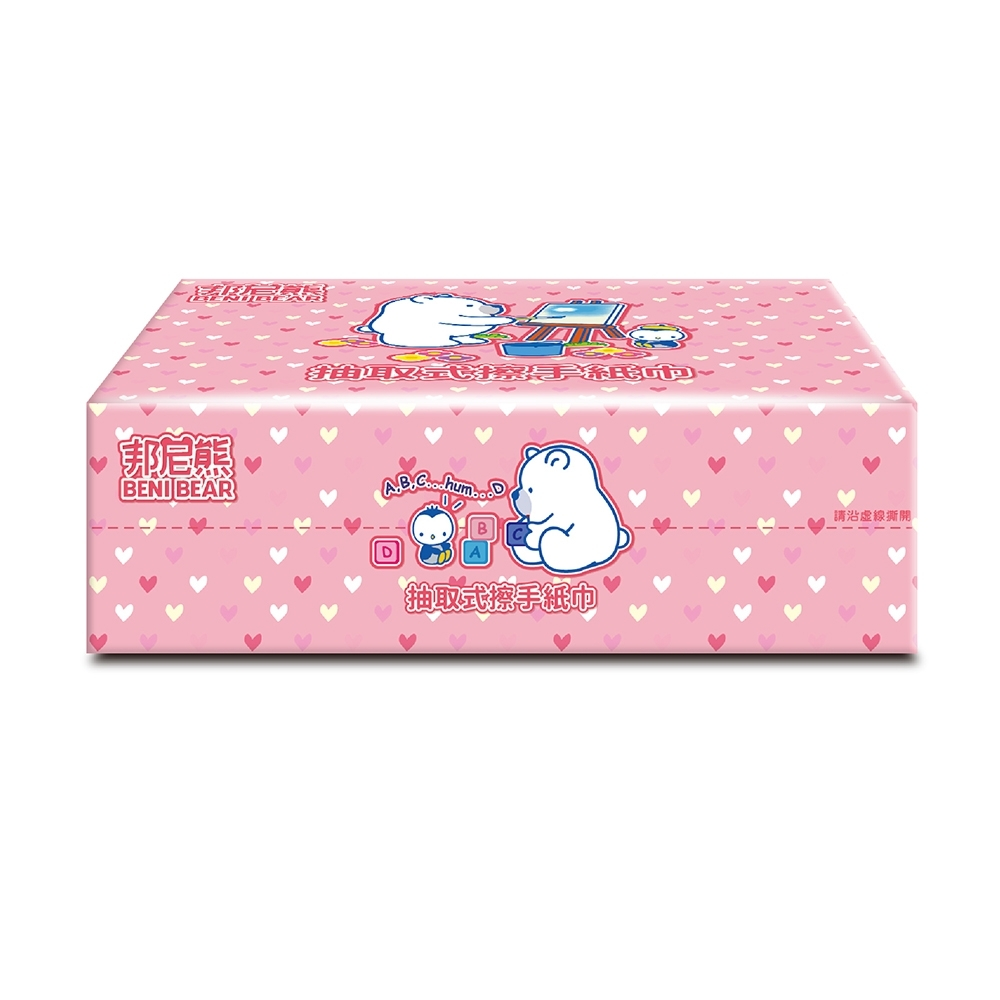 BeniBear邦尼熊抽取式熊厚擦手紙130張X20包/箱