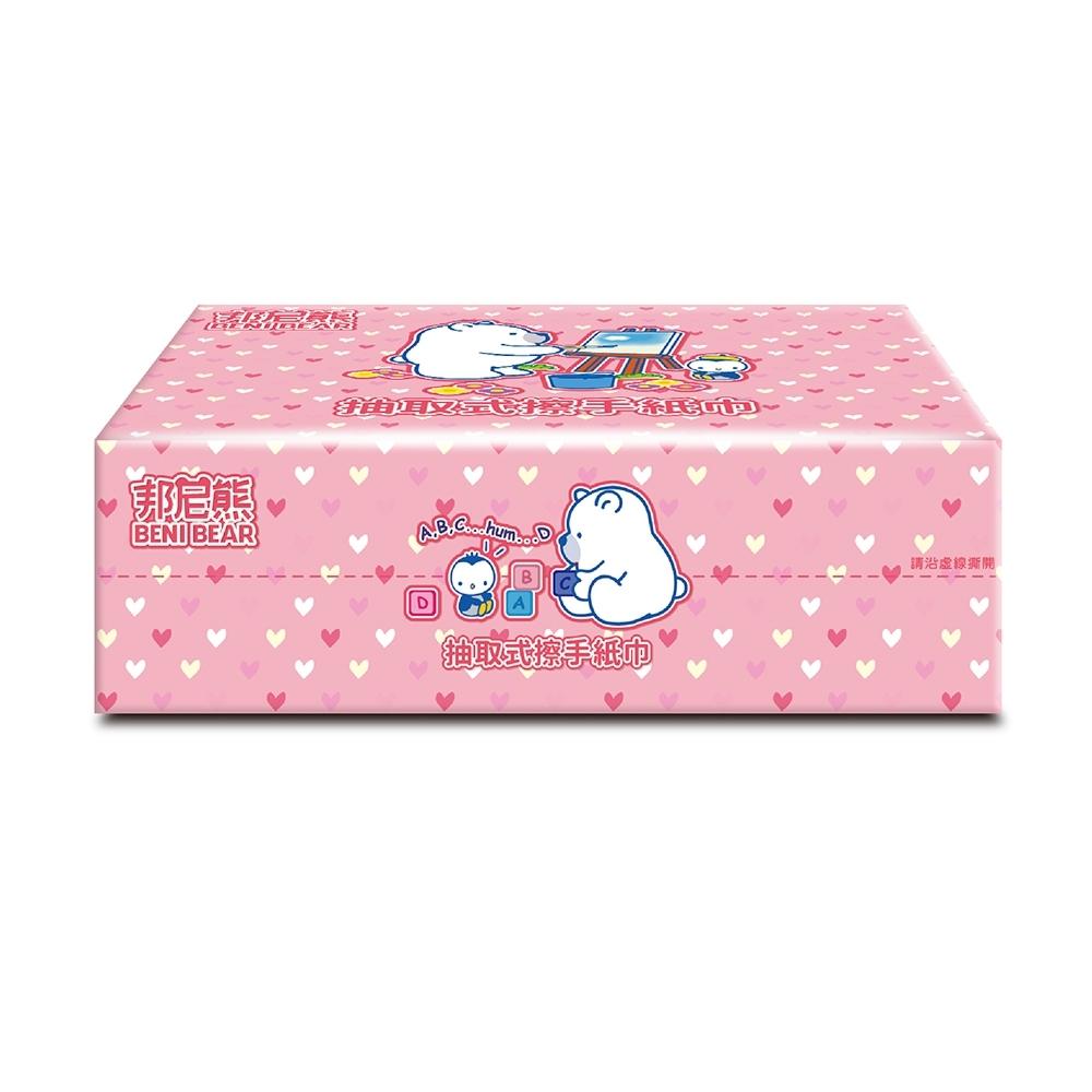 BeniBear邦尼熊抽取式熊厚擦手紙130張X20包x2箱