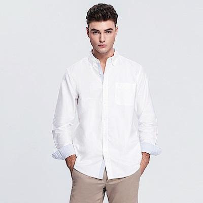 Emilio Valentino 范倫提諾牛津長袖襯衫-白