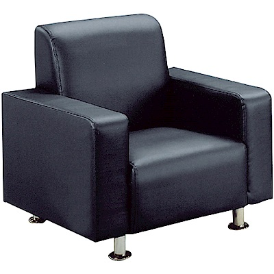 綠活居 巴迪時尚皮革單人座沙發椅(三色)-80x73x80cm免組
