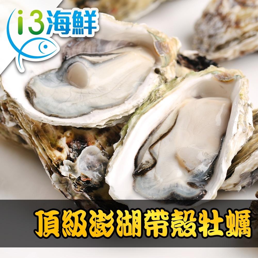 【愛上海鮮】頂級澎湖帶殼牡蠣9包(600g±10%/包/約9~12顆)
