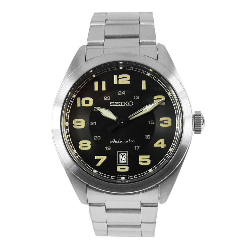 SEIKO SPROTS 復刻數字機械/手上鍊鋼帶錶-黑 SRPC85K1