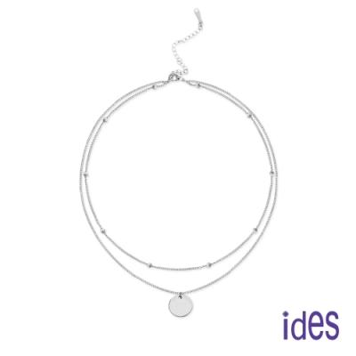 ides愛蒂思 日韓時尚設計純銀雙層項鍊/閃亮