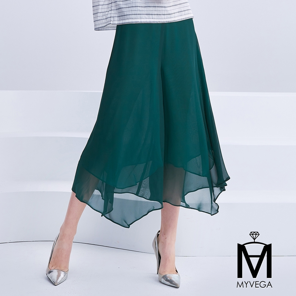 麥雪爾 MA雪紡飄逸寬鬆七分褲-共三色 product image 1
