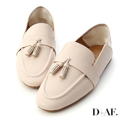 D+AF 日常焦點.麥穗流蘇可後踩樂福鞋*米