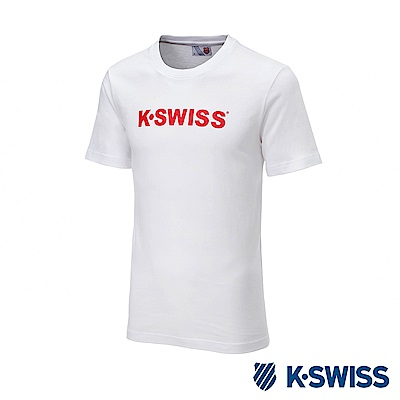 K-SWISS K-SWISS Logo Tee印花短袖T恤-男-白