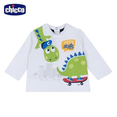 chicco-To Be BB-長袖上衣-滑板恐龍