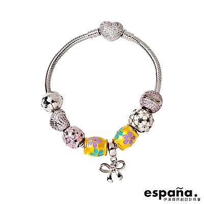 ESPANA伊潘娜 四季女神黃金/純銀/琺瑯串珠手鍊