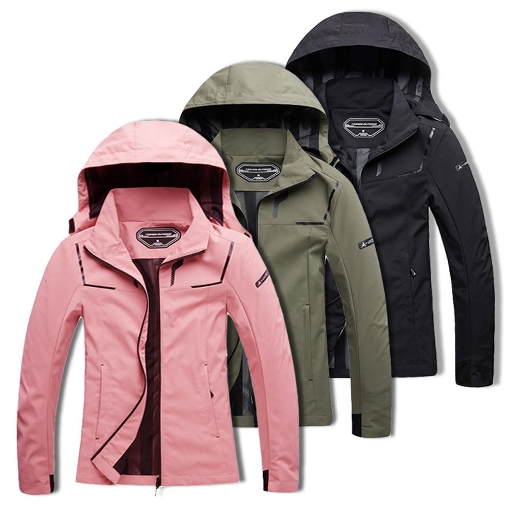 美國熊 女款風衣衝鋒衣外套 戶外登山機能服 薄款 防風 防撥水 抗污