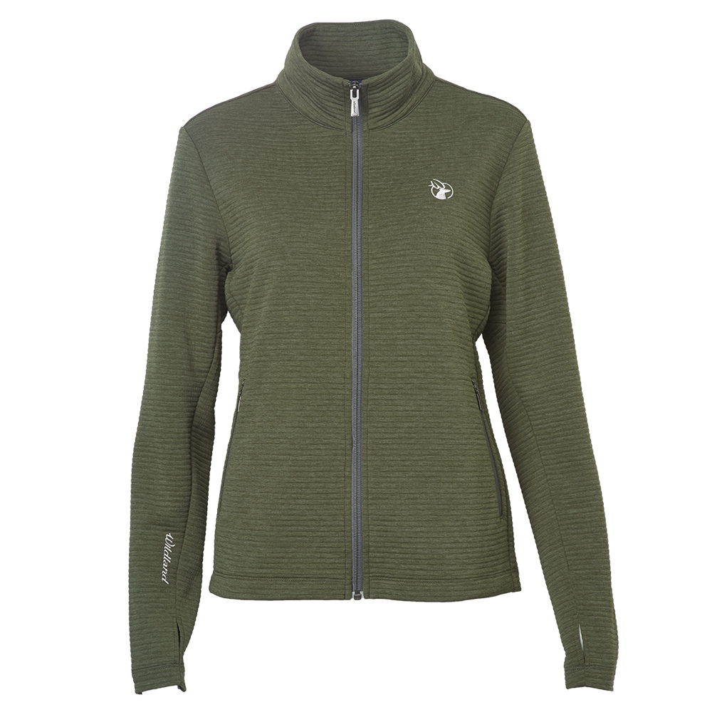 Wildland女彈性針織時尚保暖外套綠色