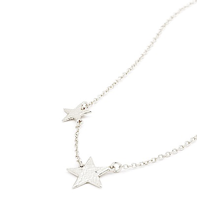 GORJANA 美國品牌 波浪紋幸運雙星項鍊 銀色 Super Star
