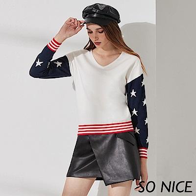 SO NICE俏麗美國風格針織上衣