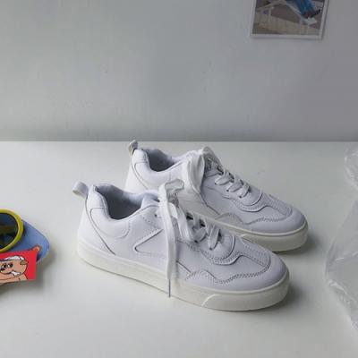 韓國KW美鞋館 明星同款簡約素色平底鞋-白
