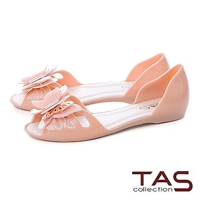 TAS 立體蝴蝶魚口後包涼鞋-人氣粉