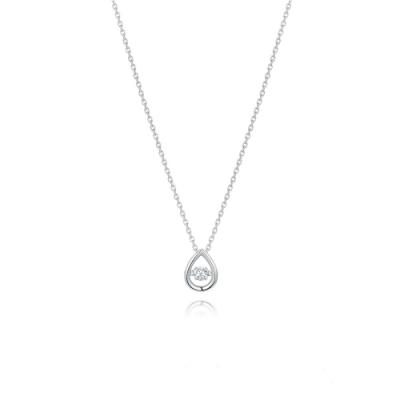 STONEHENGE 斯通亨奇 銀色傳說系列Stella純銀水滴造型鋯石項鍊