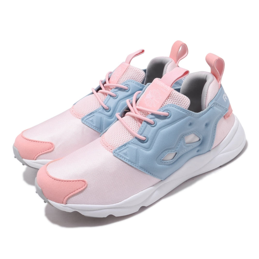 Reebok 休閒鞋 Furylite MU 襪套 女鞋 海外限定 舒適 輕便 套腳 球鞋 粉 藍 DV6596