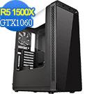 技嘉X370平台[創世狼神]R5四核GTX1060獨顯電玩機